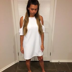 Little white dress! Perfect spring dress!!